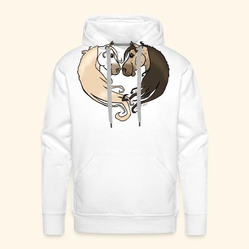Chevaux amoureux gris-gris - Sweat-shirt à capuche Premium pour hommes