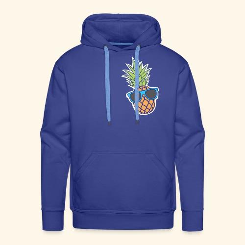 ananas met zonnebril - Mannen Premium hoodie