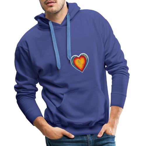 Warm lovely heart - Men's Premium Hoodie