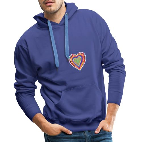 A heart in hearts is pure love on many levels - Men's Premium Hoodie
