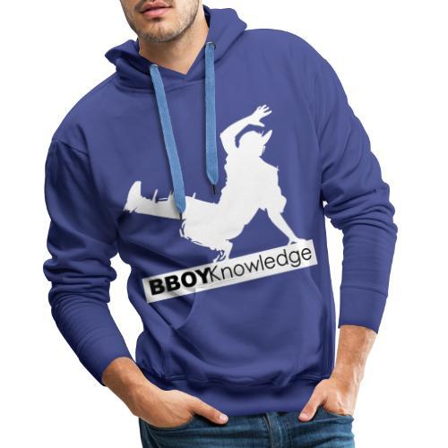 bboy knowledge Blanc & Noir - Sweat-shirt à capuche Premium pour hommes