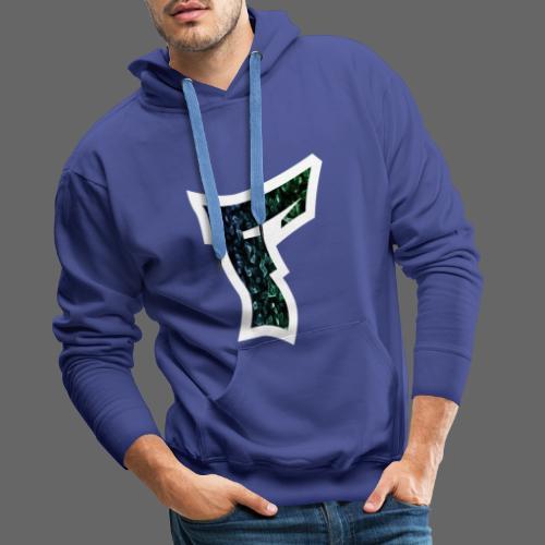 Rauch in Farben mit F Logo in Weiß - Männer Premium Hoodie