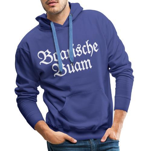 Boarische Buam (Blau) Bayern Männer Jungs - Männer Premium Hoodie