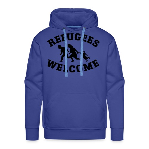 Refugees Welcome - Sweat-shirt à capuche Premium pour hommes