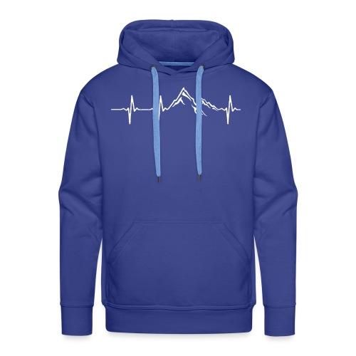 bergen_wit - Mannen Premium hoodie