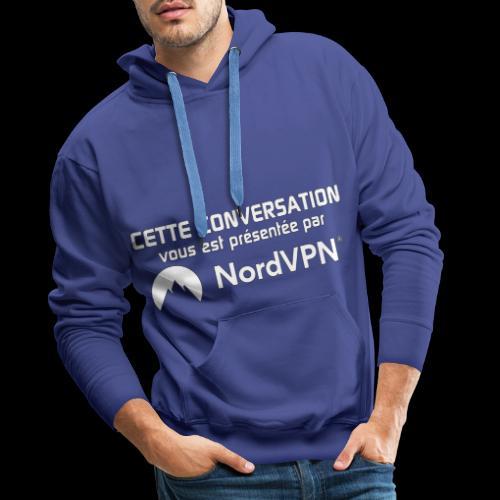 NordVPN - Sweat-shirt à capuche Premium pour hommes
