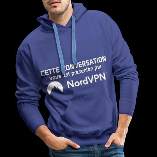 Nord VPN - Sweat-shirt à capuche Premium pour hommes