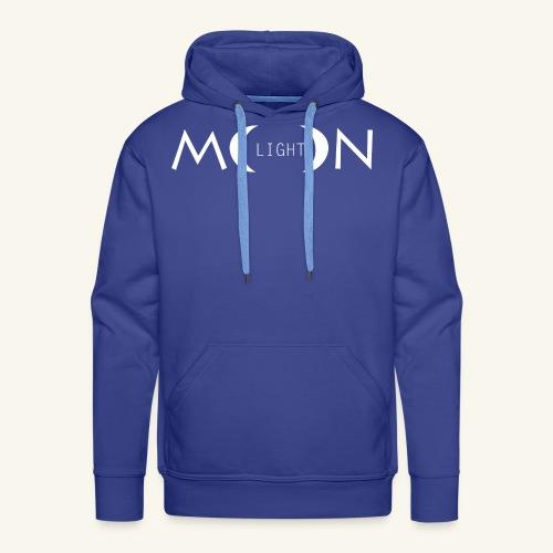 MoonLight white - Felpa con cappuccio premium da uomo