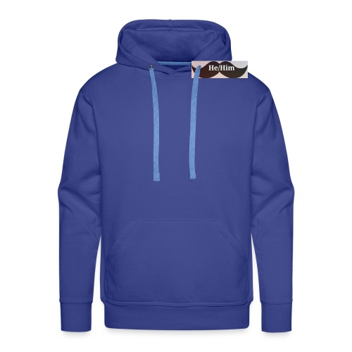 FTM/NB pronoun tee/accessories - Men's Premium Hoodie