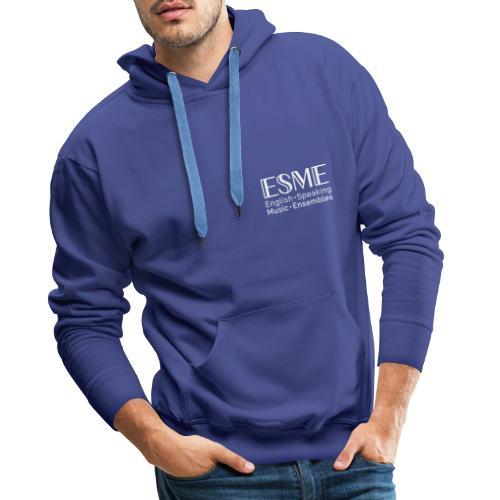 ESME Logo Weiss - Männer Premium Hoodie