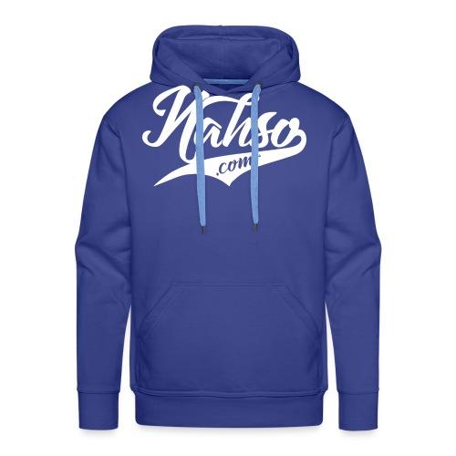 White Nasho.com Design - Men's Premium Hoodie