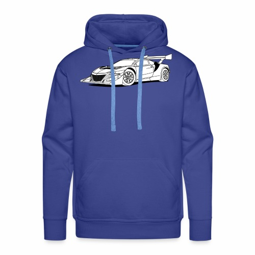 Concept Car White - Men's Premium Hoodie