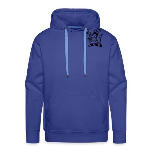 dog logo vector - Men's Premium Hoodie