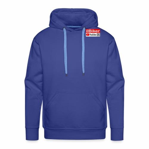 ilBiker - Logo rettangolo - Felpa con cappuccio premium da uomo