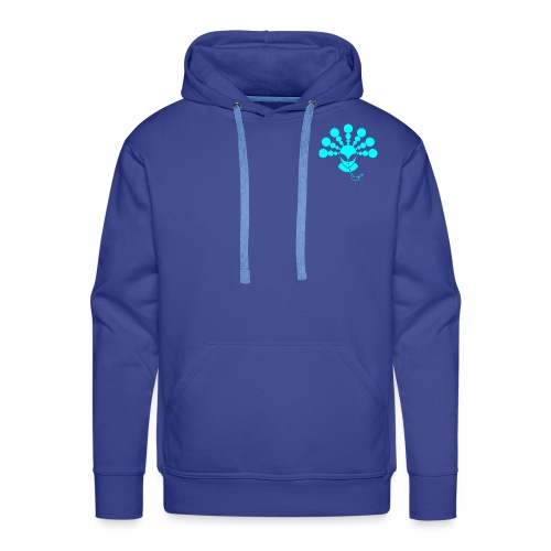 The Smoking Alien Light Blue - Men's Premium Hoodie
