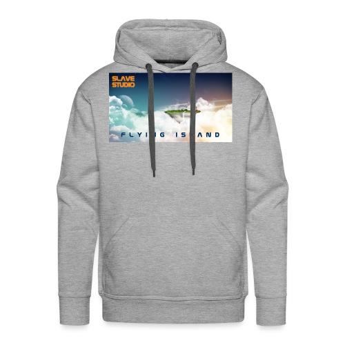 flying island - Felpa con cappuccio premium da uomo