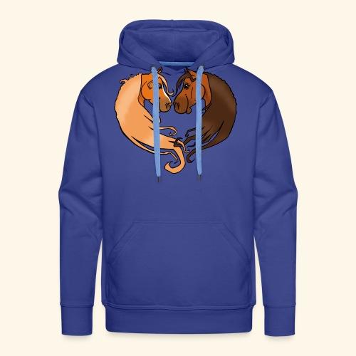 Chevaux amoureux alezan-bai - Sweat-shirt à capuche Premium pour hommes