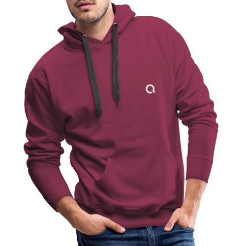 Logo Q Blanc - Sweat-shirt à capuche Premium pour hommes