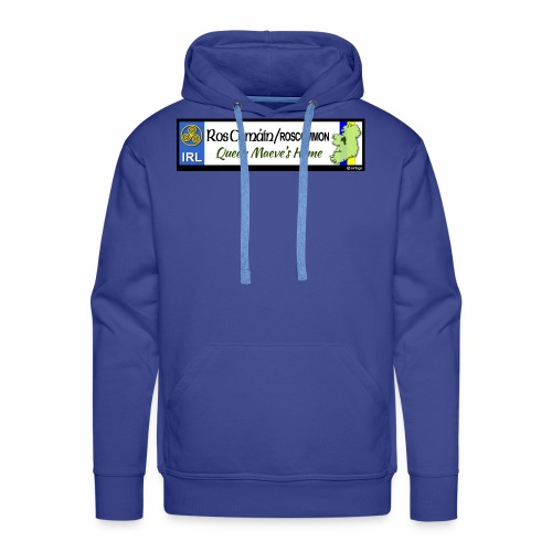 ROSCOMMON, IRELAND: licence plate tag style decal - Men's Premium Hoodie