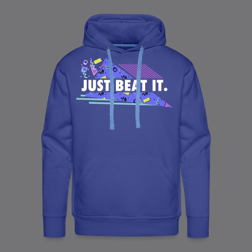 JUST BEAT IT black tee shirt - Men's Premium Hoodie