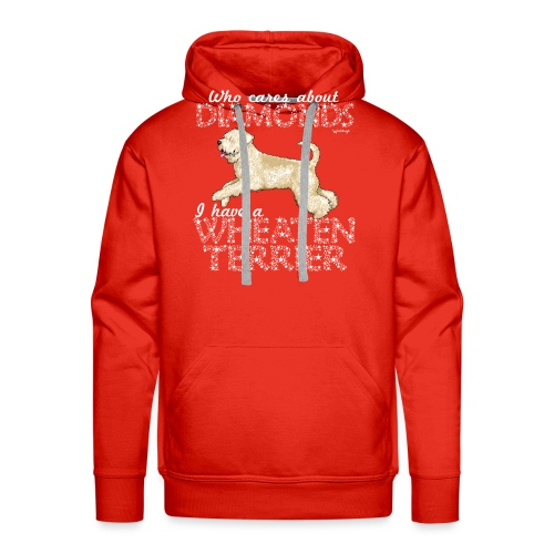 Wheaten Terrier Diamonds 4 - Men's Premium Hoodie
