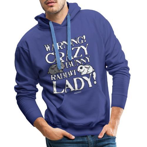 Crazy Bunny Lady - Miesten premium-huppari