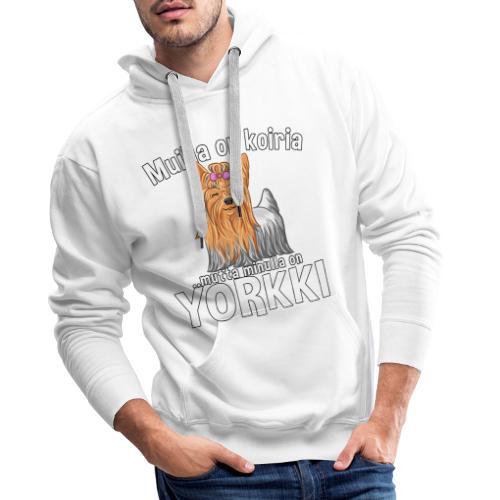 Yorkki Koiria - Miesten premium-huppari