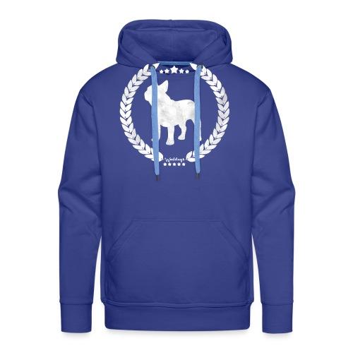French Bulldog Army Silver - Men's Premium Hoodie