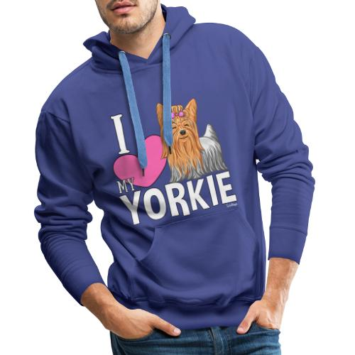 I love my Yorkie - Miesten premium-huppari