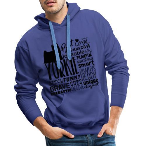 Yorkshire Terrier Words B2 - Miesten premium-huppari