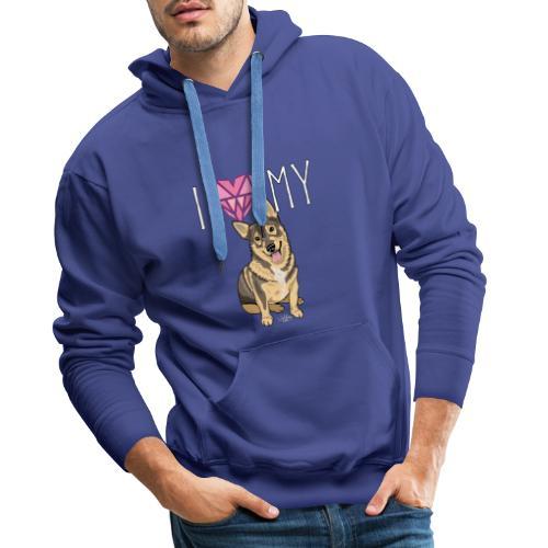 lovevallhund - Miesten premium-huppari