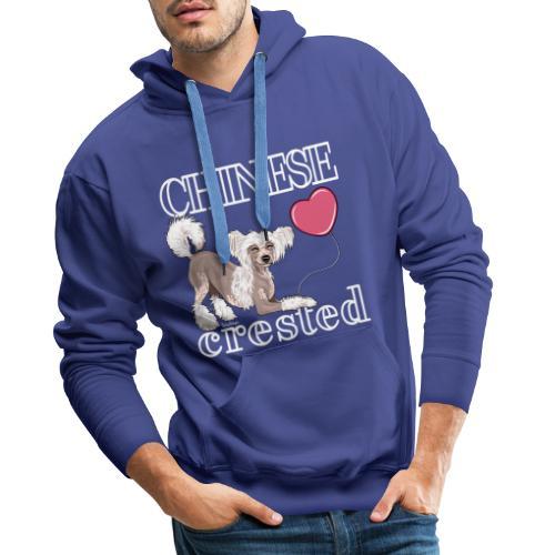 Chinese Crested I - Miesten premium-huppari