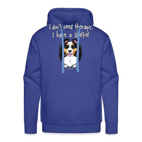 Sheltie Dog Therapy - Men's Premium Hoodie