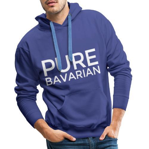 PURE BAVARIAN (Weiß) Bayern Pur - Männer Premium Hoodie