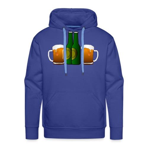 Birre in bottiglia - Felpa con cappuccio premium da uomo