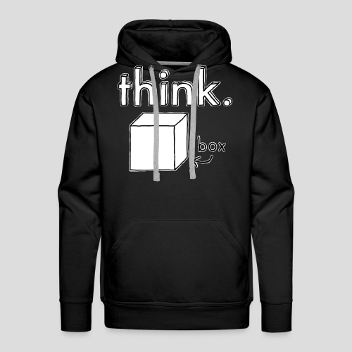 Think Outside The Box Illustration - Men's Premium Hoodie