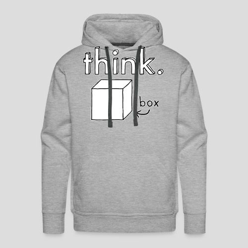 Think Outside The Box Illustration - Men's Premium Hoodie