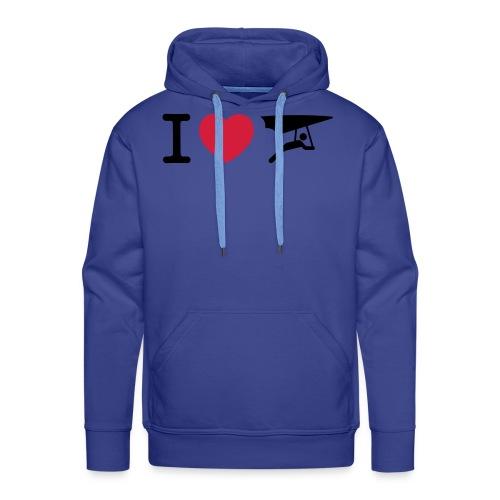 I love hanggliding - Mannen Premium hoodie