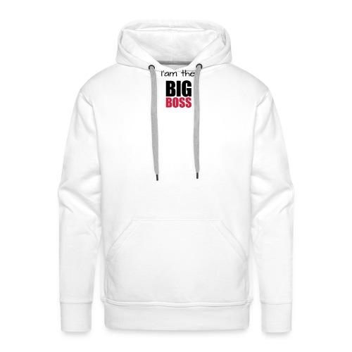 I am the big boss - Sweat-shirt à capuche Premium pour hommes