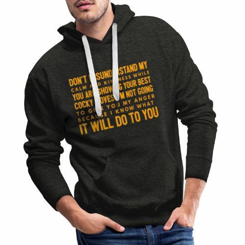 confidence - Herre Premium hættetrøje