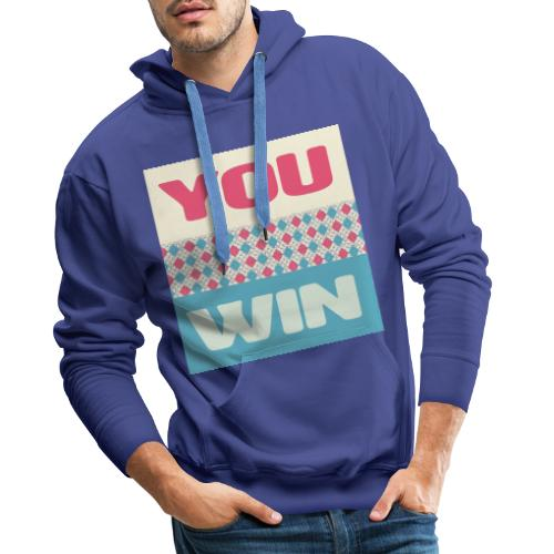you win 8 - Men's Premium Hoodie