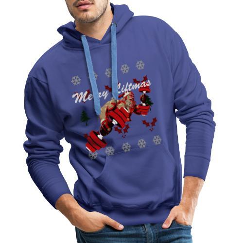 Merry Liftmas Christmas sweater - Men's Premium Hoodie