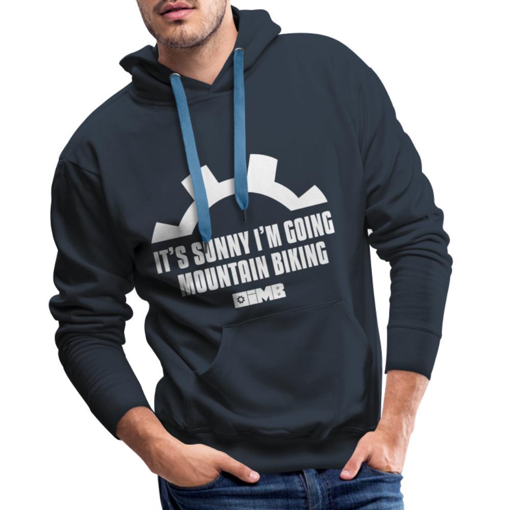 It's Sunny I'm Going Mountain Biking - Men's Premium Hoodie - navy