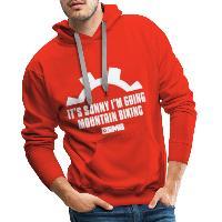 It's Sunny I'm Going Mountain Biking - Men's Premium Hoodie - red