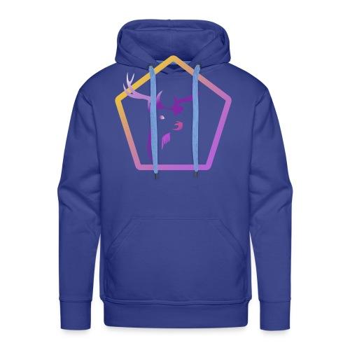 Cerf Pentagone - Sweat-shirt à capuche Premium pour hommes