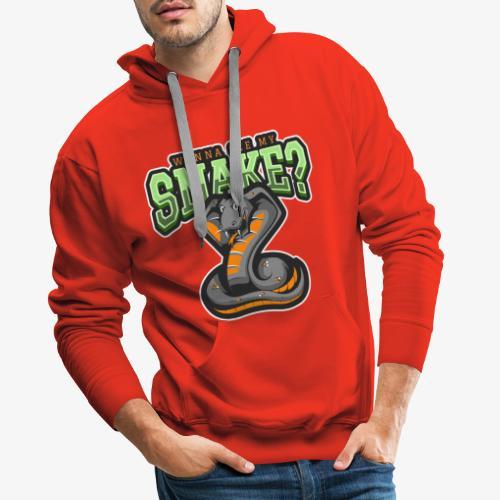 Wanna see my Snake III - Miesten premium-huppari