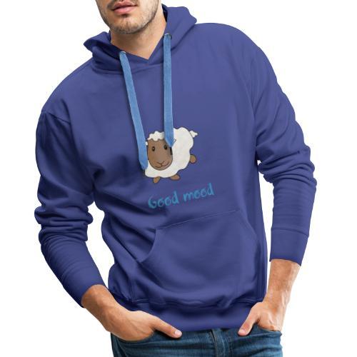 Nadège le petit mouton blanc - Sweat-shirt à capuche Premium pour hommes