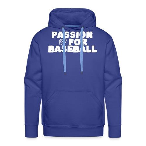 Passion for Baseball - Sweat-shirt à capuche Premium pour hommes