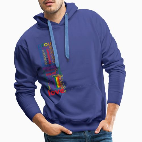 Pride Word Design - Men's Premium Hoodie