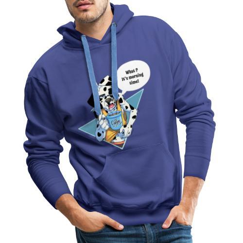 Dalmatien avec son café du matin - Sweat-shirt à capuche Premium pour hommes